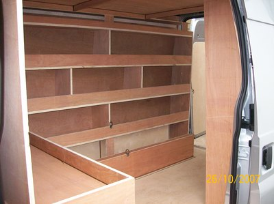 Bespoke ply shelving made to measure and to your specifications