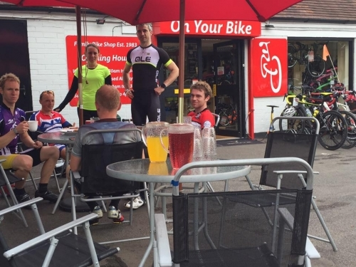 Great interaction from our customers and local cycling clubs