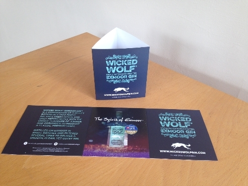 Wicked Wolf Gin Tent Cards