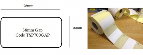 Dispenser labels to fit the Star TSP700II printer 38mm Gap