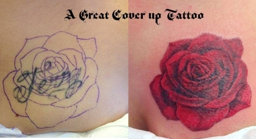 A great cover up tattoo from Tom