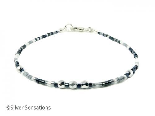 Blue & White Skinny Bracelet