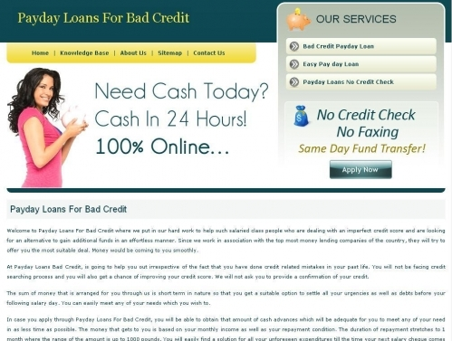 Paydayloans For Badcredit Co Uk
