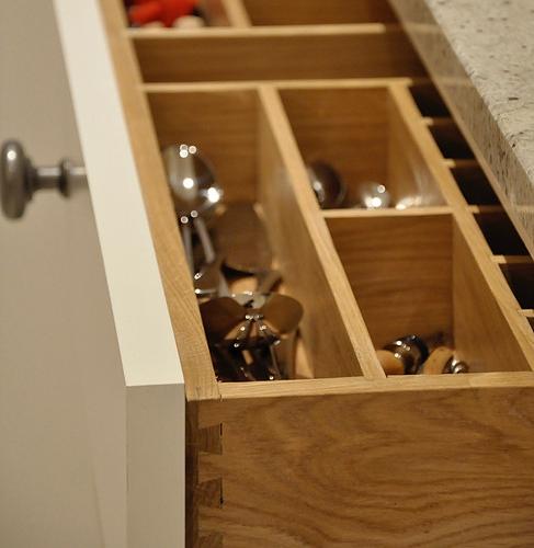Oak Cutlery divider