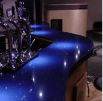 Commercial bar tops in colored Quartz or Granite. Quartz and granite bar tops Hampshire, Berkshire, Surrey.
