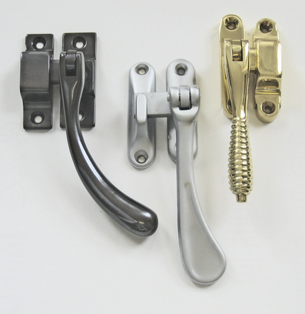 Window hardware in a selection of finishes