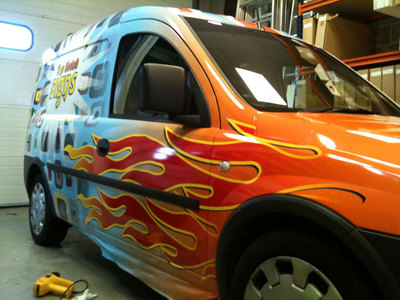 Van wraps and digital graphics - Flaming Hot !