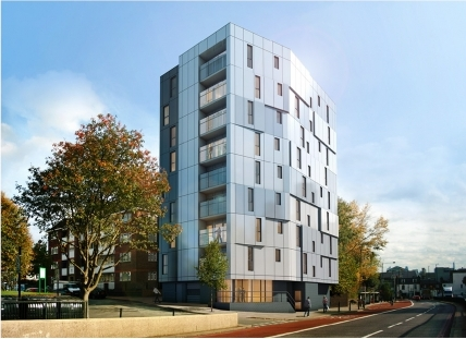 Computer Generated Image - Origin Housing, Islington