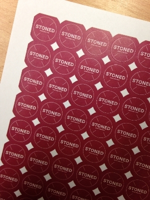 Round Labels printed for Stoned