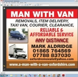 Man With Van Oxfordshire