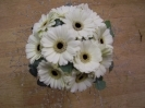 bridesmaid hand tied posy, white germini