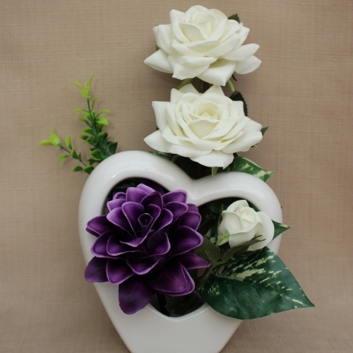 Artificial Flowers Purple And White