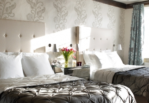 Twin Bedroom at The Great House in Lavenham