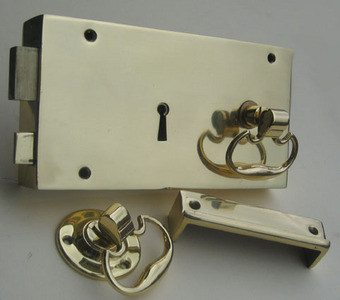 Traditional Rim Locks shown with Carriage Drop Handles