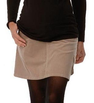 Beige Cord Maternity Skirt315527detail