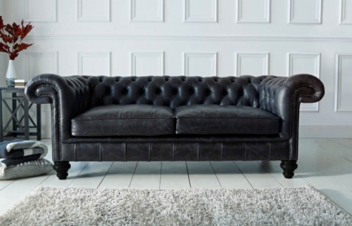 Paxton Leather Chesterfield