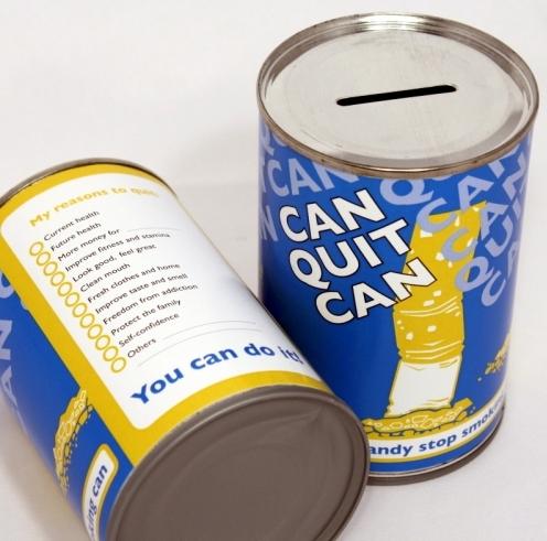 Reusable savings tin