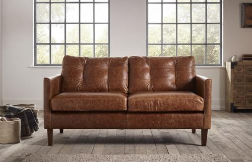 Cromer Small Leather Sofa