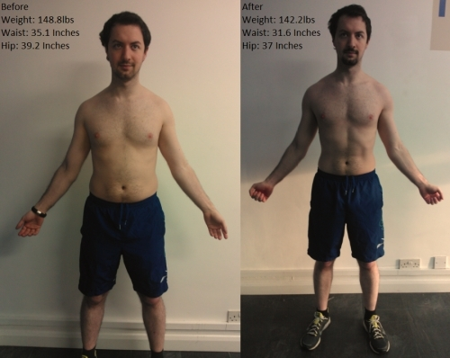 Daniel Colber 30day Challange Before & After Shots