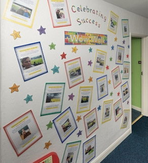 Wow Wall - celebrating success!