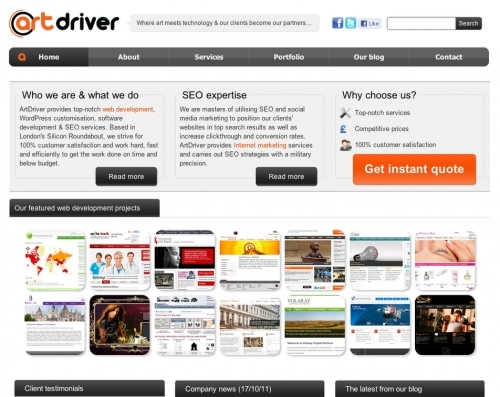 Artdriver Web Development Seo