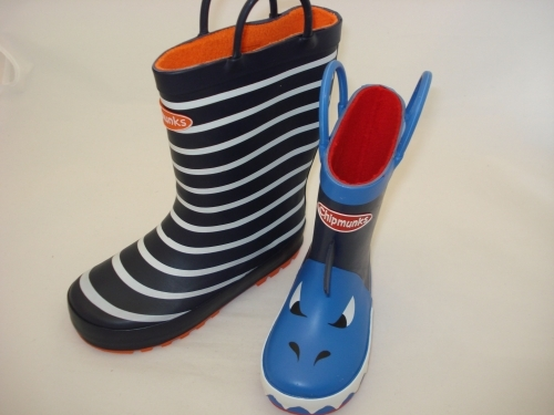 April showers!  Be ready these Chipmunks Wellies are great