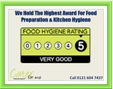Cater For Me Has The Highest Award For Food Hygiene
