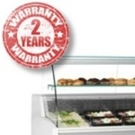 Interlevin Slimline Serve Over Counter.  Model Prima 100  to Prima 200  Curved of flat glass available