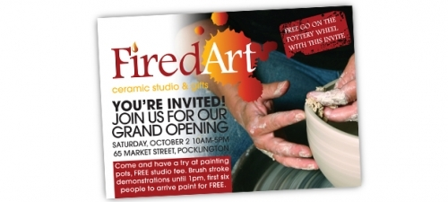 Fired Art Invitation