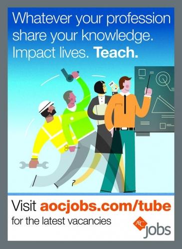 Tube Advert: Share your knowledge. Impact lives. Teach. | AoC Jobs
