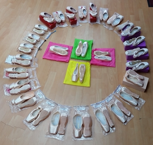 A Selection of the Pointe Shoes Always In Stock