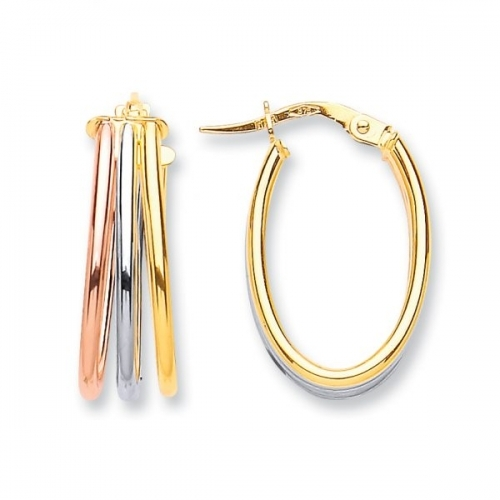 Gold Earrings By Silver Aura Jewellery - Sager00141 600x600