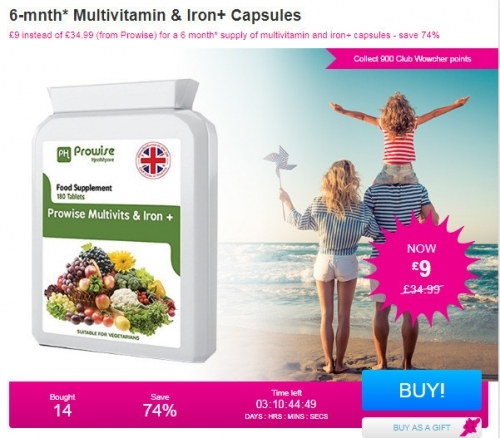 6-mnth Multivitamin & Iron+Capsules.
