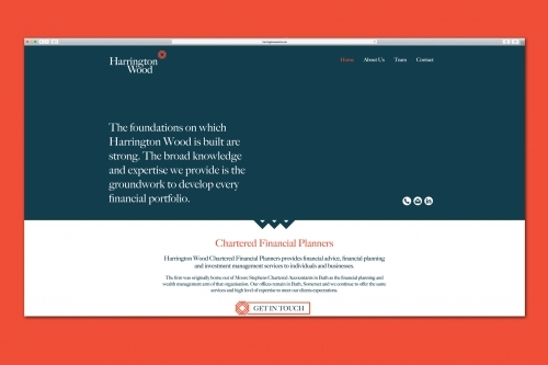 Harrington Wood Website Design, Bath Somerset