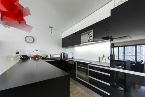 Black Marble Kitchen Units from W8 Design Build Maintain Ltd