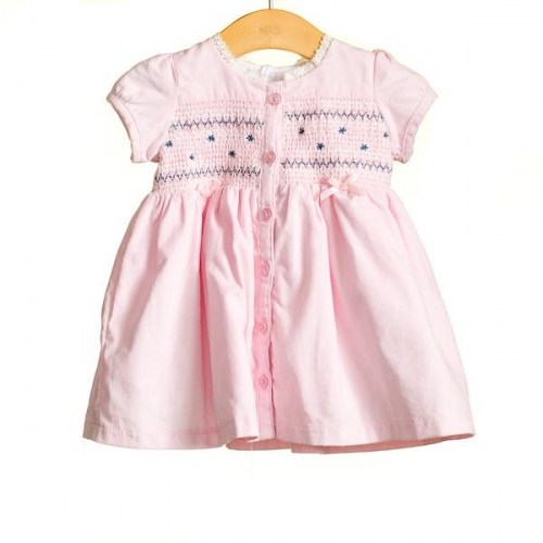 Girls Corduroy Short Sleeved Dress