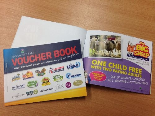 Voucher Books printed for Mullacott Park