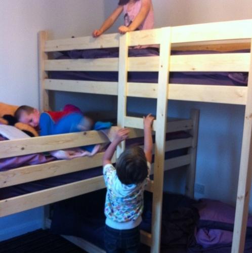L shaped Triple bunk