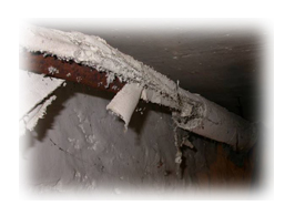 School pipe insulation within floor ducts