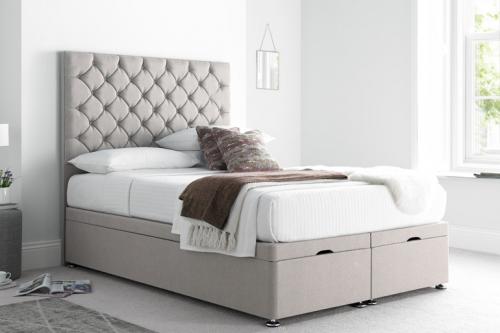 Button Divan Ottoman Bed