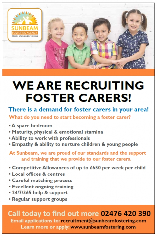 Foster carers required in West Midlands