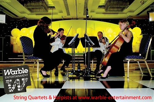 String Quartets and Harpists for Wedding Ceremony Music