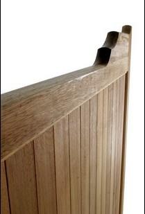 Hardwood Driveway Gates - Gunstock Double - side view
