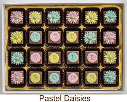 Personalised marzipan chocolates