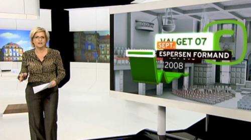 TV2 Election Graphics, Virtual studio.