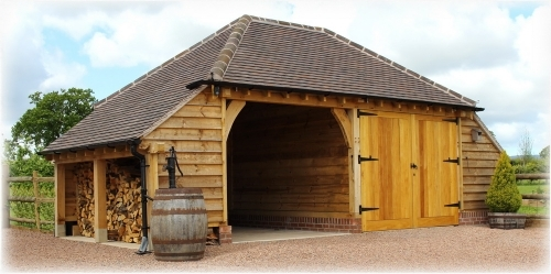 Richoak oak framed garage