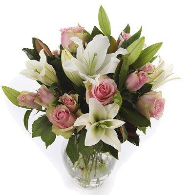 Lily & Rose Vase Arrangement