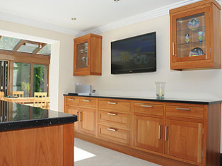 Shaker kitchen with wood finish