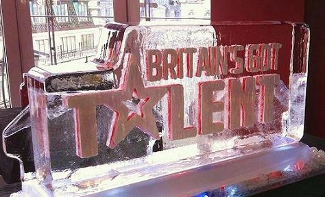 Britains Got Talent Vodka Luge Ice Sculpture