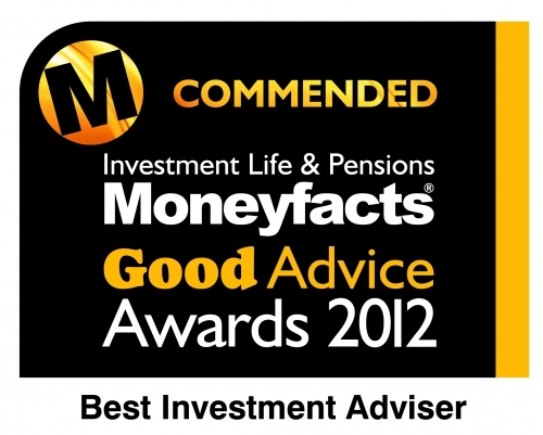 Moneyfacts Good Advice Best Investment Adviser Commended Award